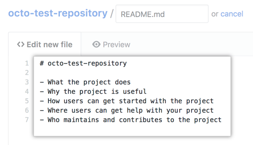 new content in new README file