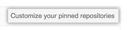 Customize your pinned repositories button