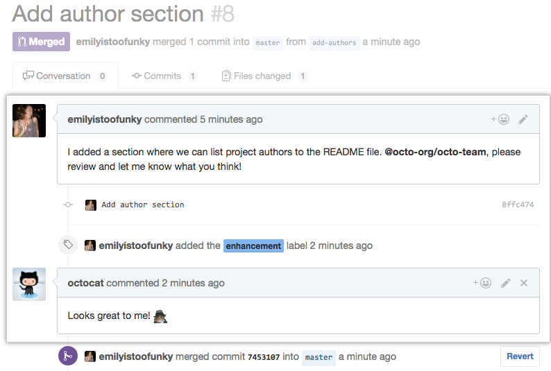 Pull Request conversation