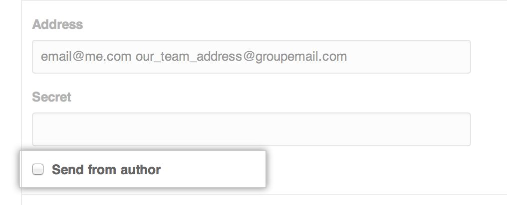 Email author checkbox