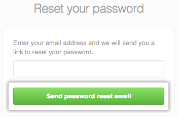 Password reset email request dialog