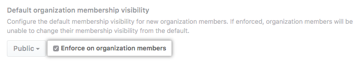 Checkbox to enforce the default setting on all members