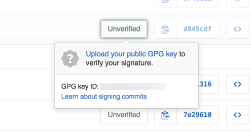 Unverified signed commit