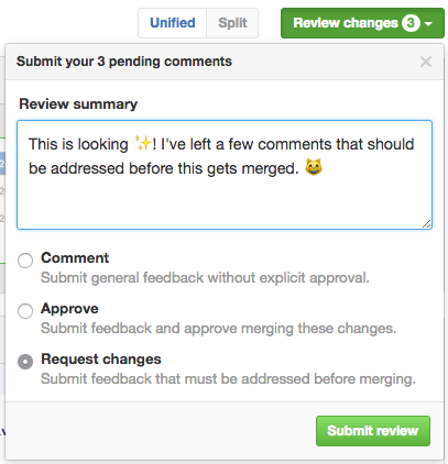 Radio buttons with review options