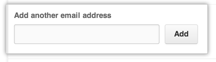 Add another email address button