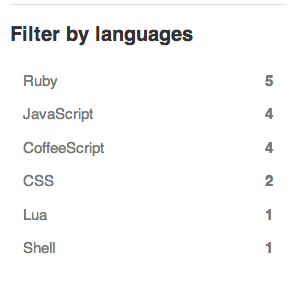 Filter stars by language