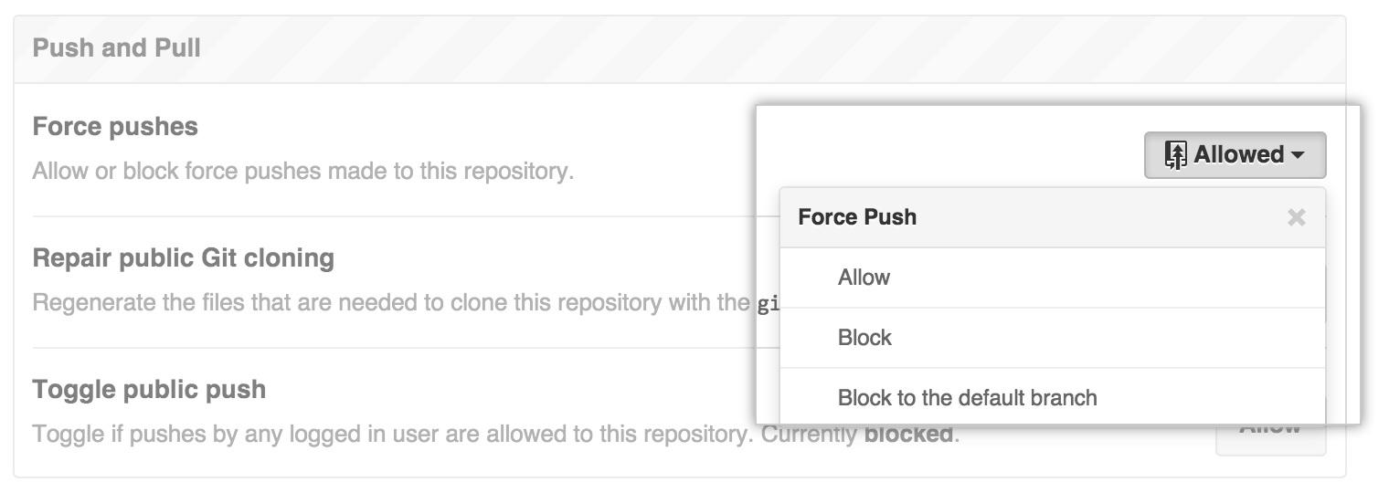 Block force pushes