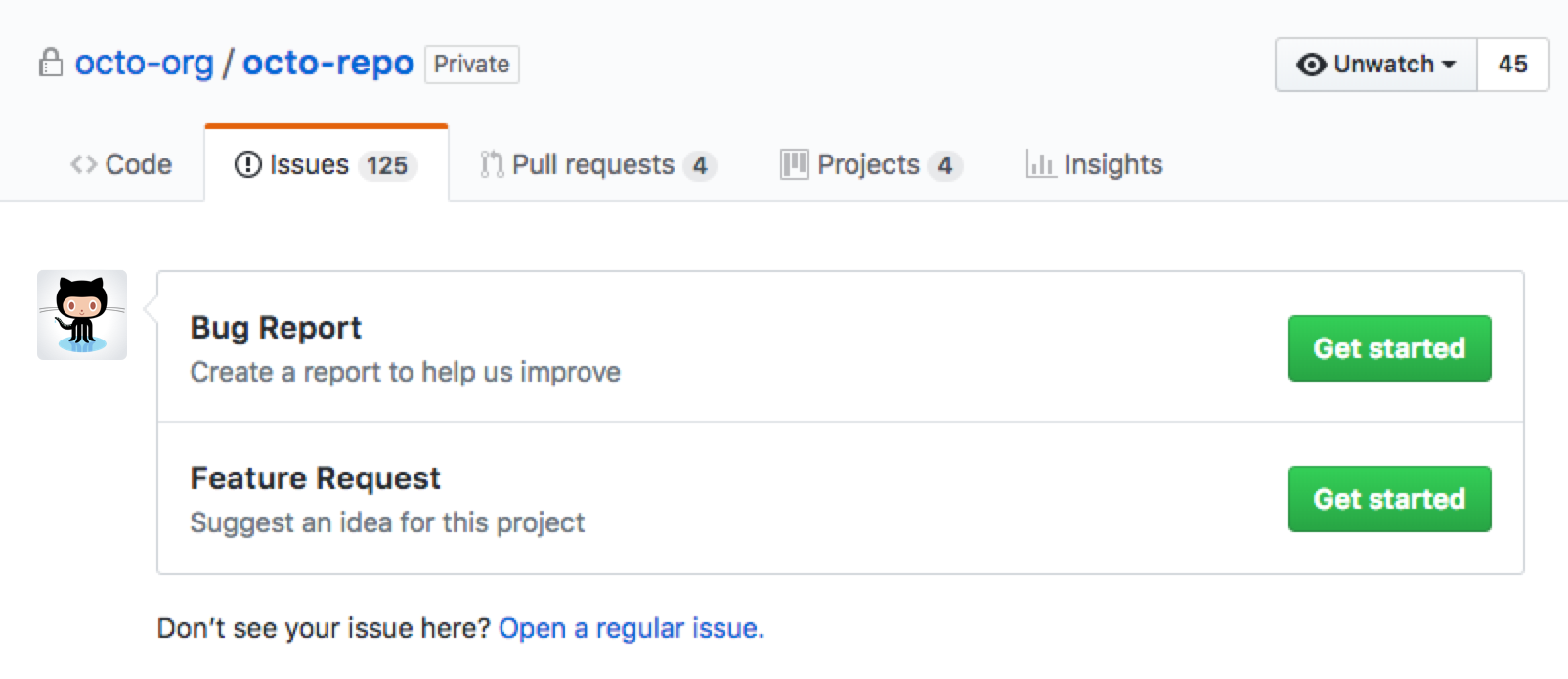 about issue and pull request templates github enterprise 2 15