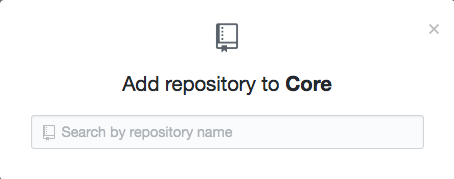 Repository search field