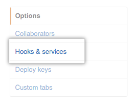 Hooks and services