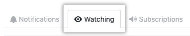 Listing of watched repositories