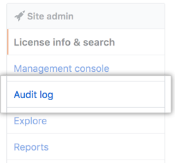 Audit log tab
