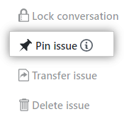 Button to pin issue