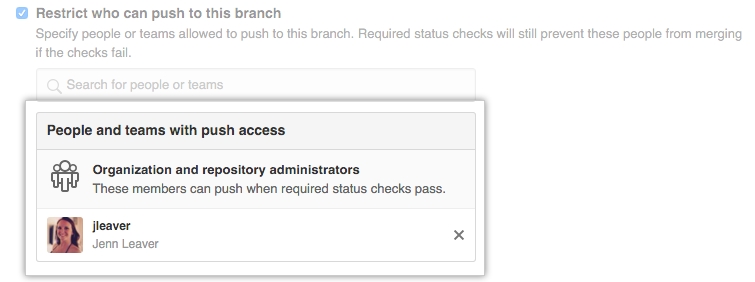 Restricted branch permissions