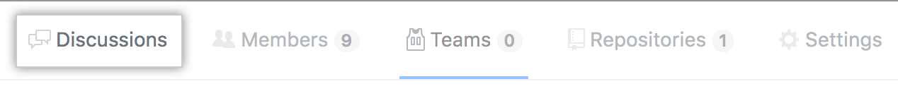 Team discussions tab