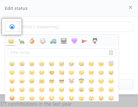 Button to select an emoji status