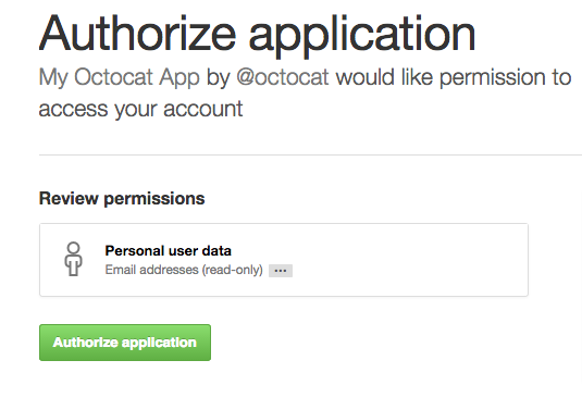 GitHub's OAuth Prompt