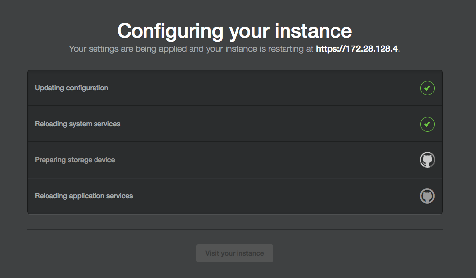 Configuring your instance