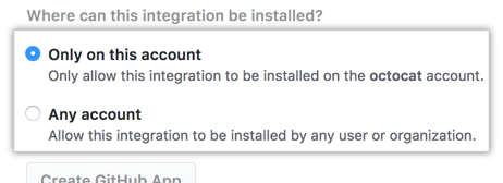 Radio buttons to enable access to any account
