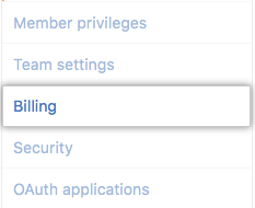 Billing settings