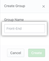 Group Name field
