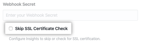 Checkbox to skip SSL certificate check