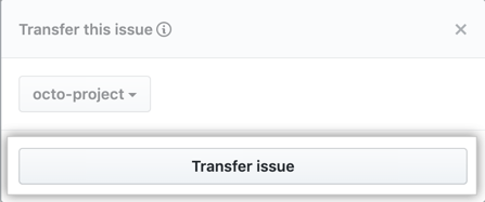 Transfer issue button