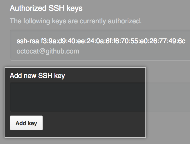 Add SSH key