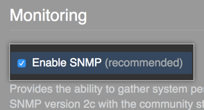Button to enable SNMP