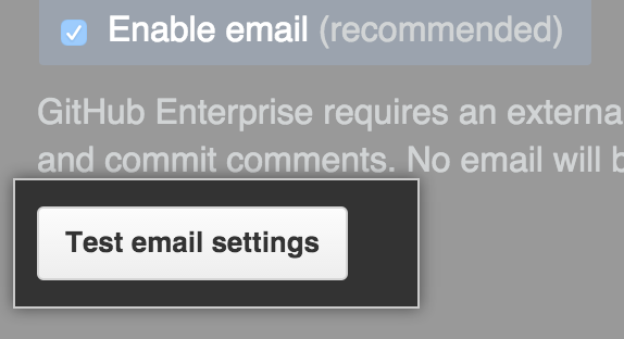 Test email settings