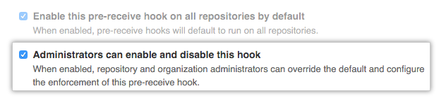 Admins enable or disable hook