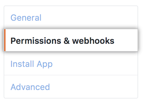 Permissions and webhooks