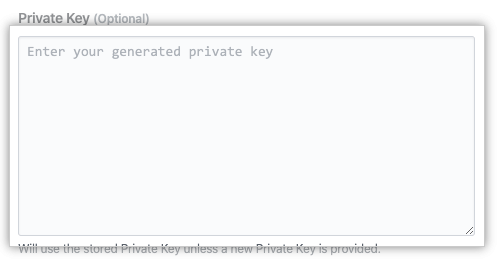 Private key field