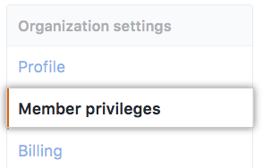 Member privileges option in org settings