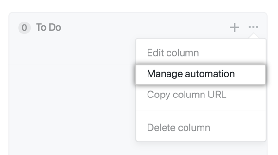 Manage automation button