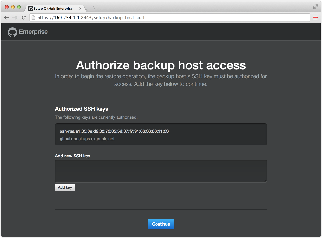 Authorizing backup