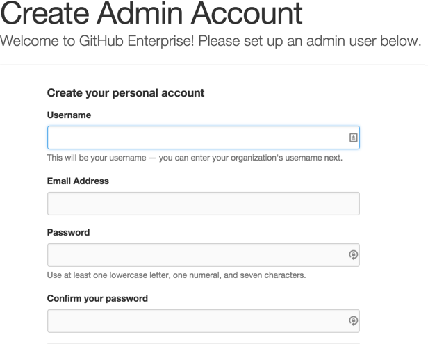 Create Admin Account