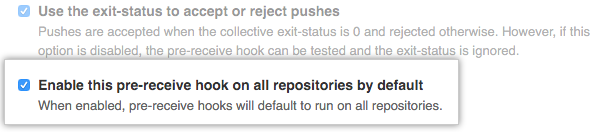 Enable hook all repositories