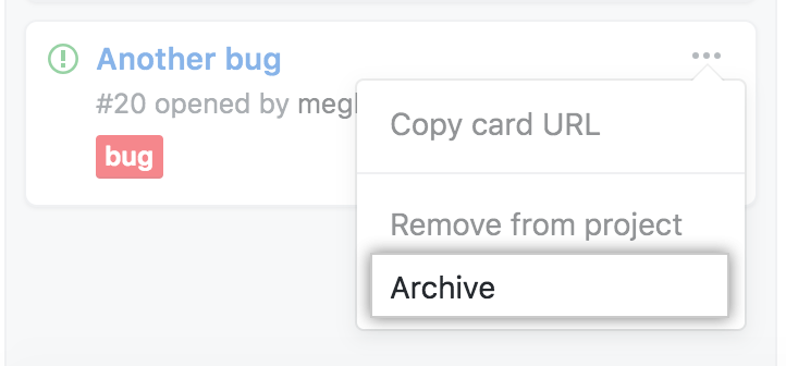 Select archive option from menu