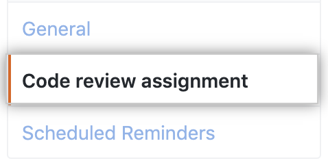 Code review assignment button