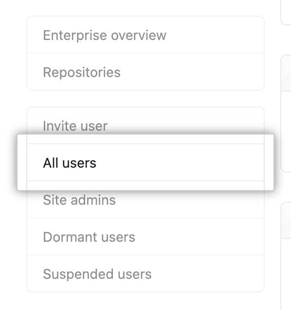 """All users"" sidebar item in site administrator settings"
