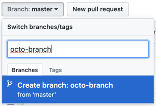 branch creation text box