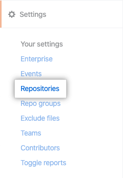 Repositories tab