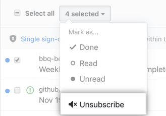 Unsubcribe option from main inbox