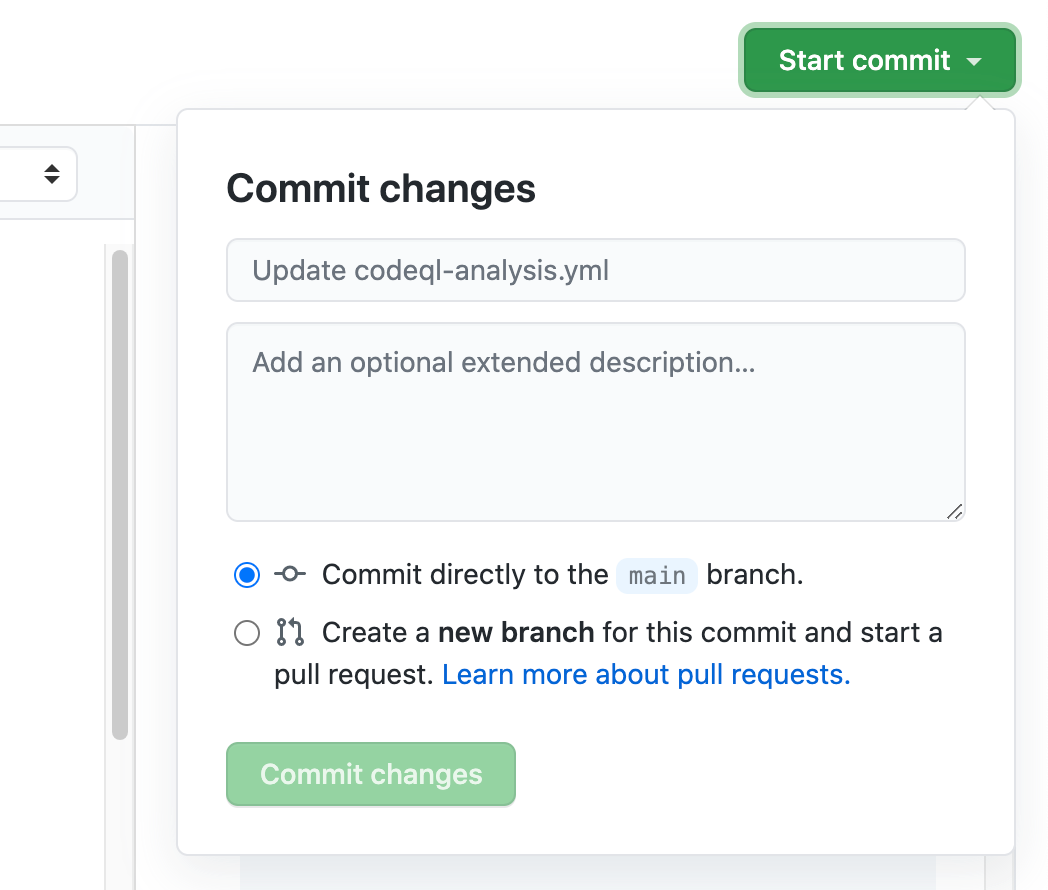 Commit update to codeql.yml workflow