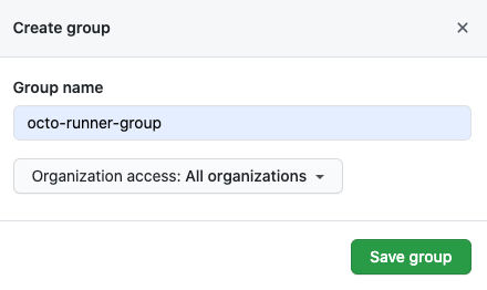 Add runner group options