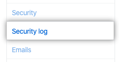 Security log tab