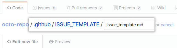New multiple issue template in hidden directory