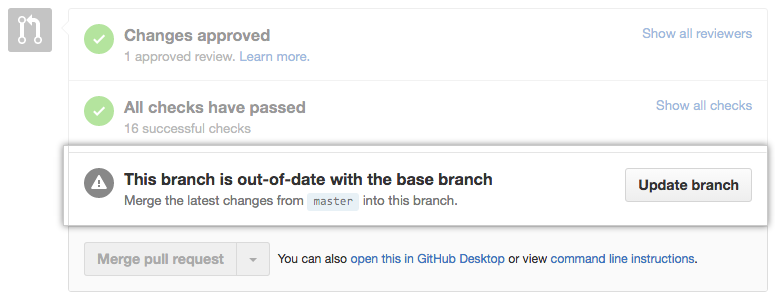 Out-of-date branch