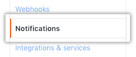 Notifications button in sidebar